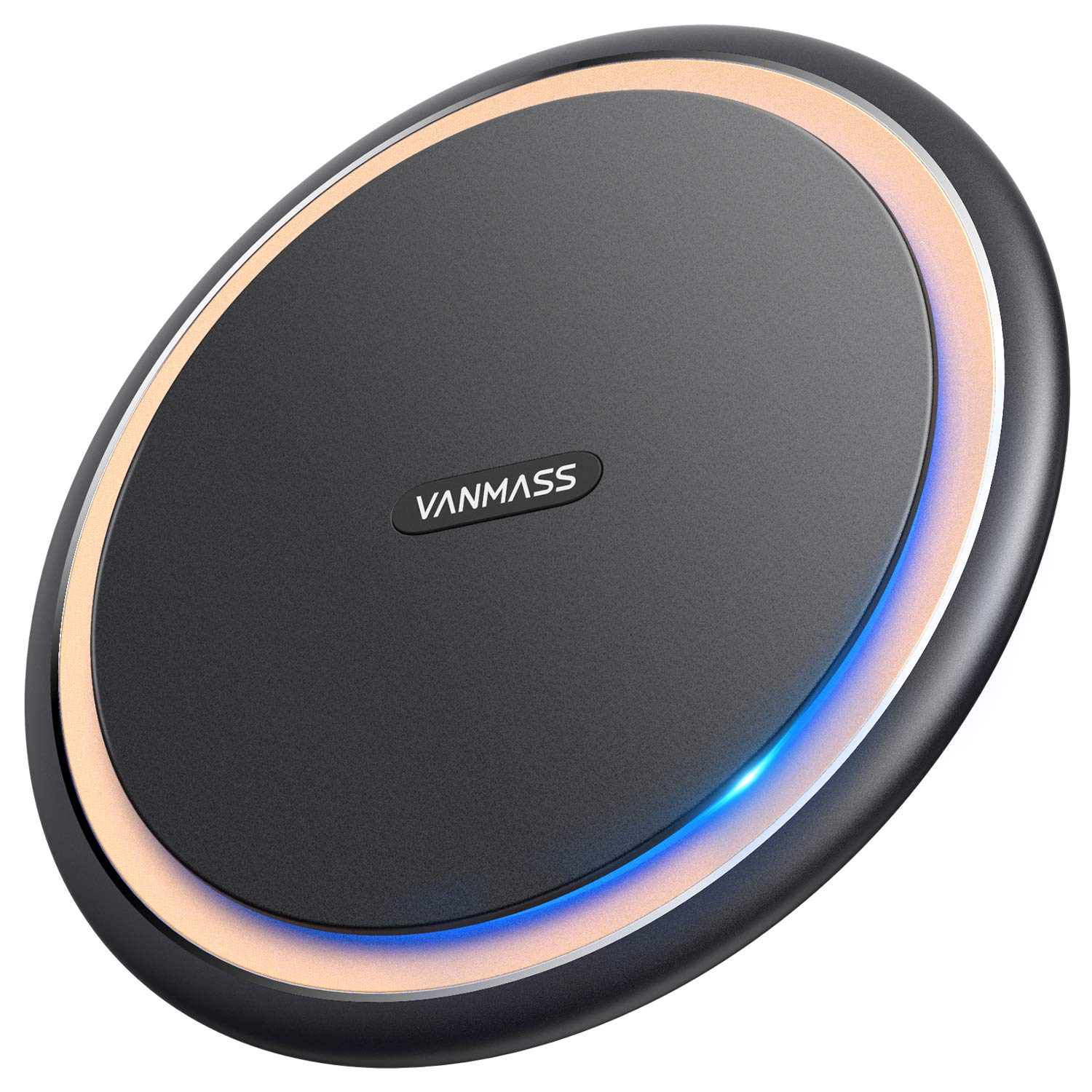 Wireless Charger, VANMASS 15W/10W/7.5W/5W Qi-Certified Wireless Charging Pad