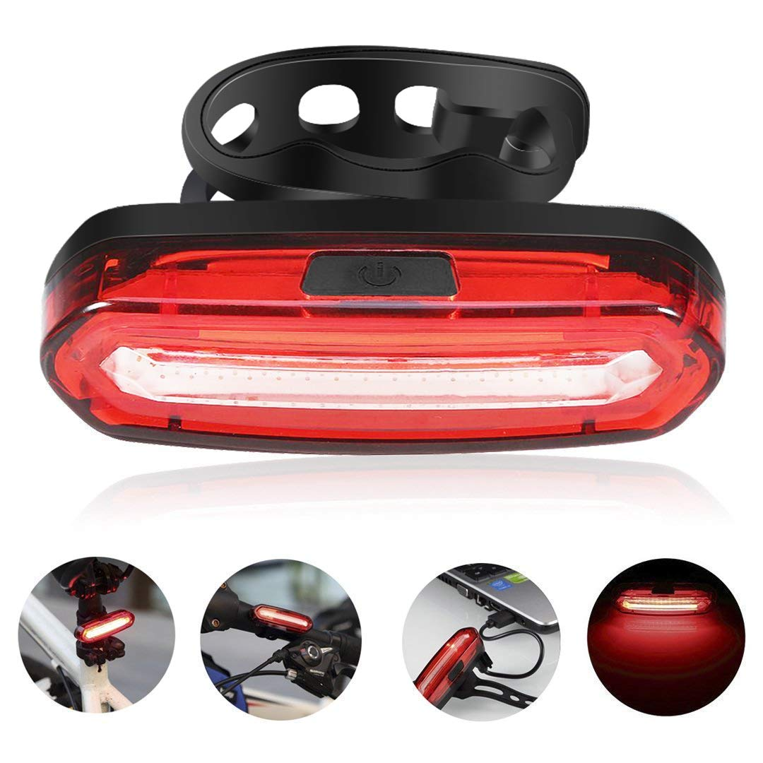 GreenClick COB Bike Rear Lights USB Rechargeable LED Bicycle Taillight