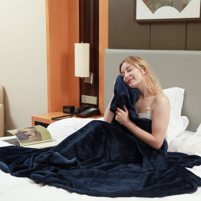 softan Flannel Fleece Blanket Twin Size 260GSM Lightweight Soft Blankets