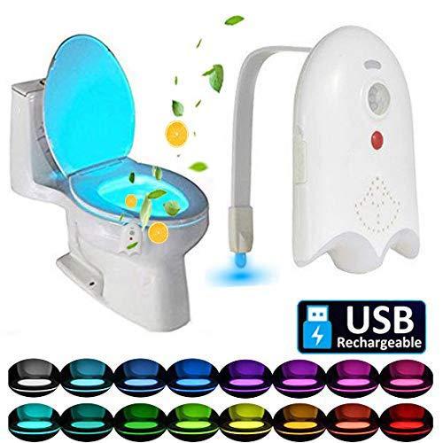Caxmtu 16 Colors LED Toilet Light Motion Detection Bathroom Night Lights