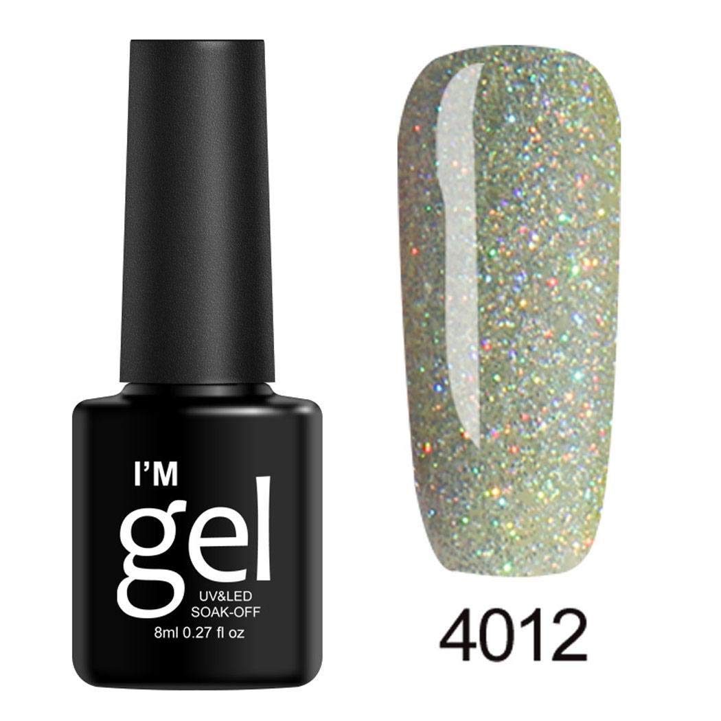 Juzie 8mL Gel Nail Polish – Long Lasting Glitter Beauty Art Tools Salon