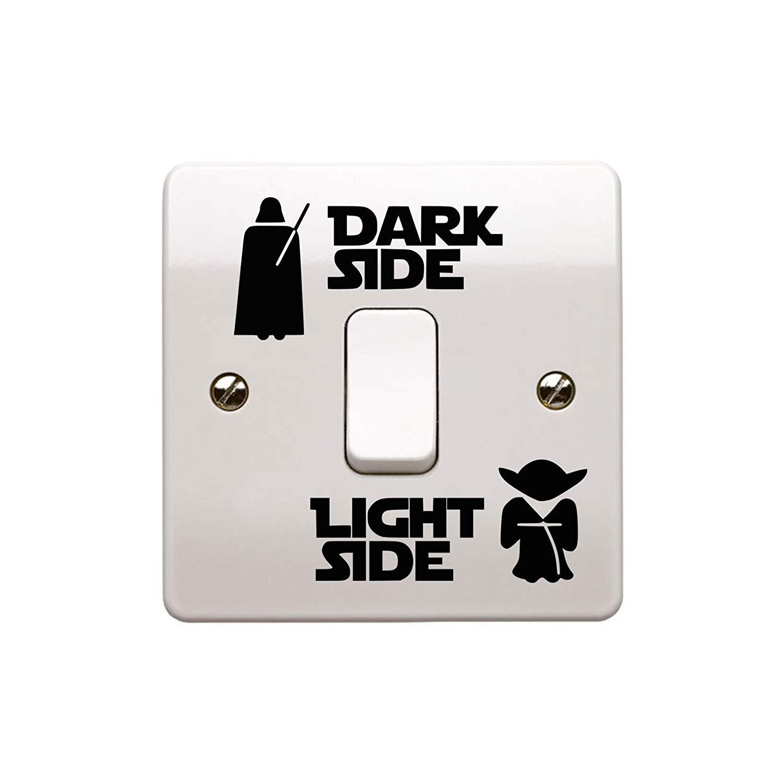 Epic Modz Star Wars Light Side Dark Side Light Switch Vinyl Decal Sticker