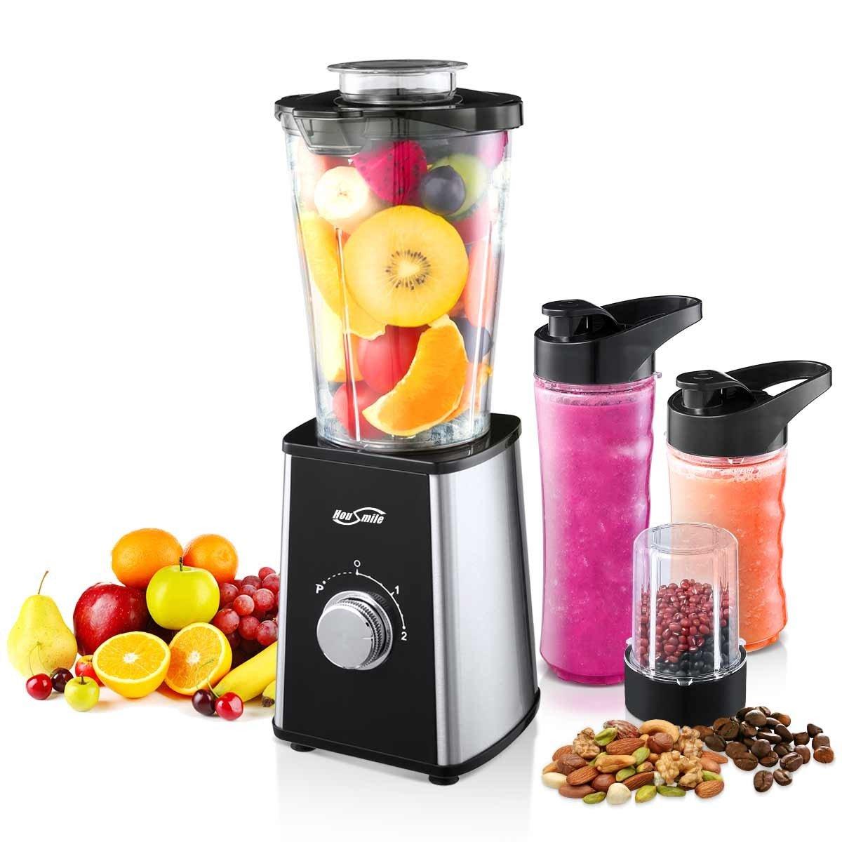 Housmile Blender, Mixer & Food Processor, Ice Crusher Grinder & Juicer