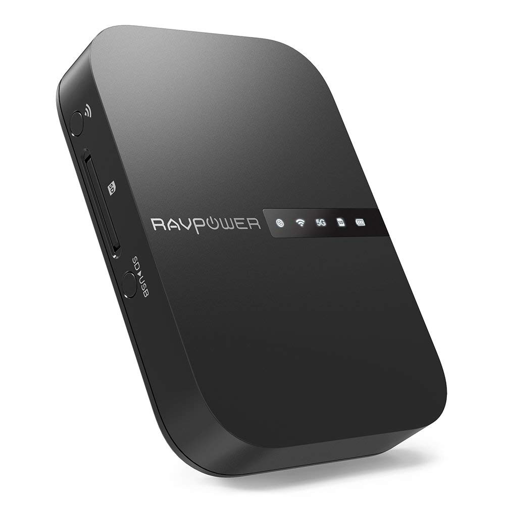 RAVPower FileHub, Travel Router AC750, Wireless SD Card Reader