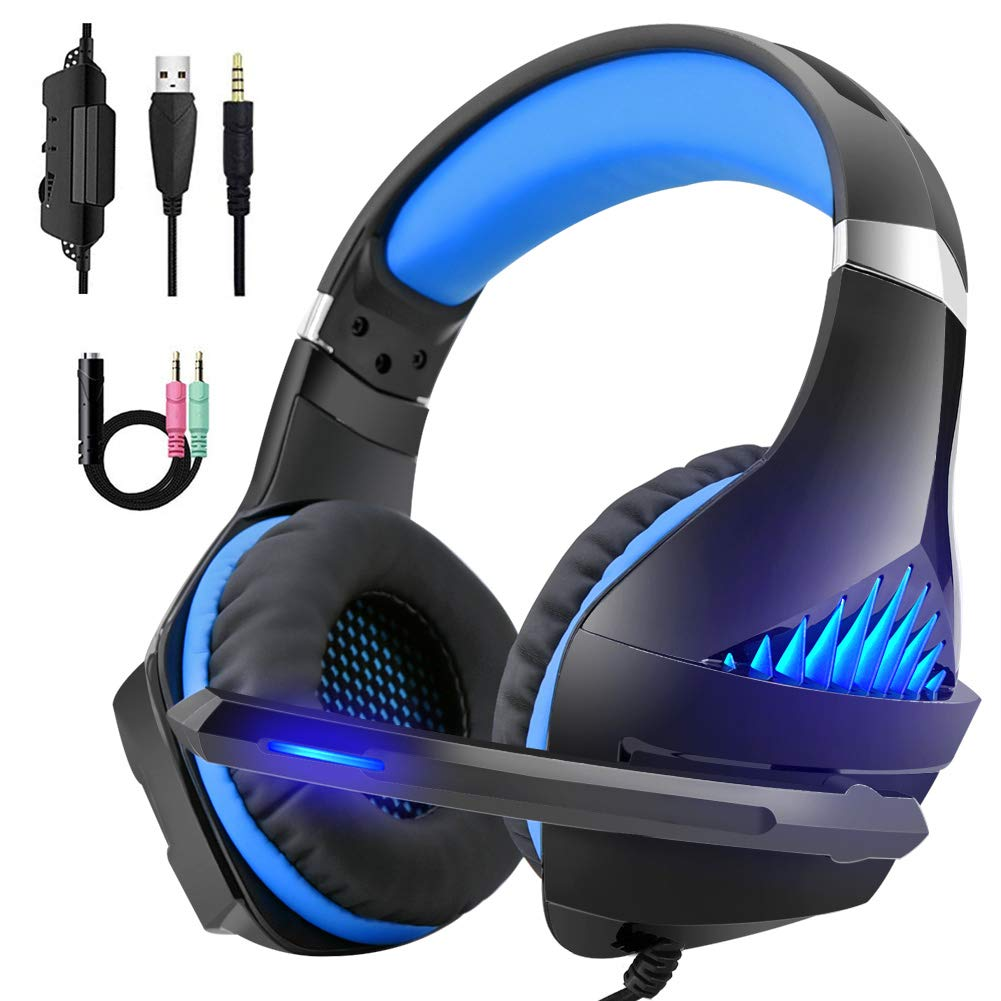 Beexcellent Gaming Headset Over-Ear Headphones 3.5mm Jack Cable