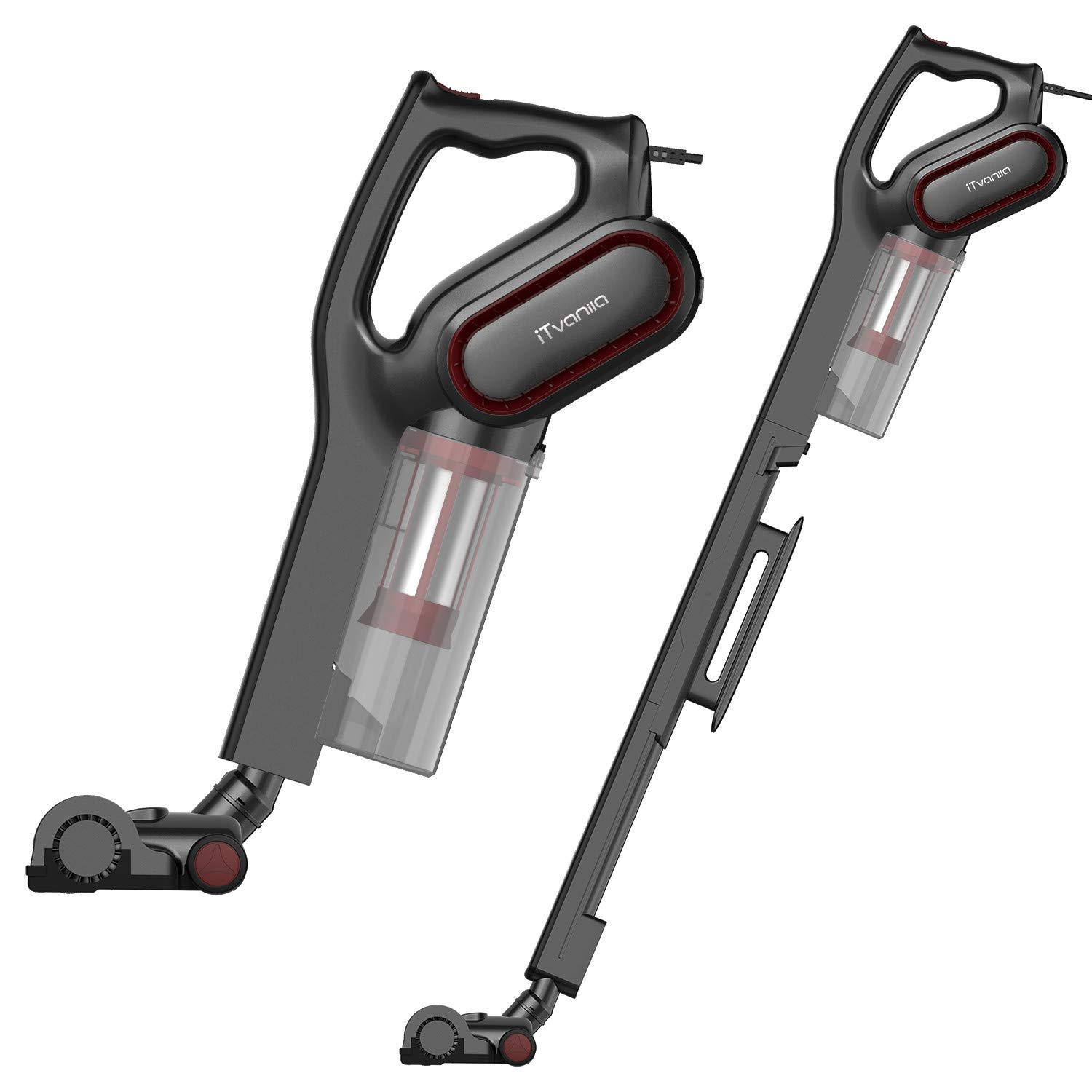 600W 15Kpa Corded 2 in 1 Handheld Bagless Upright Vacuum with HEPA Filtration
