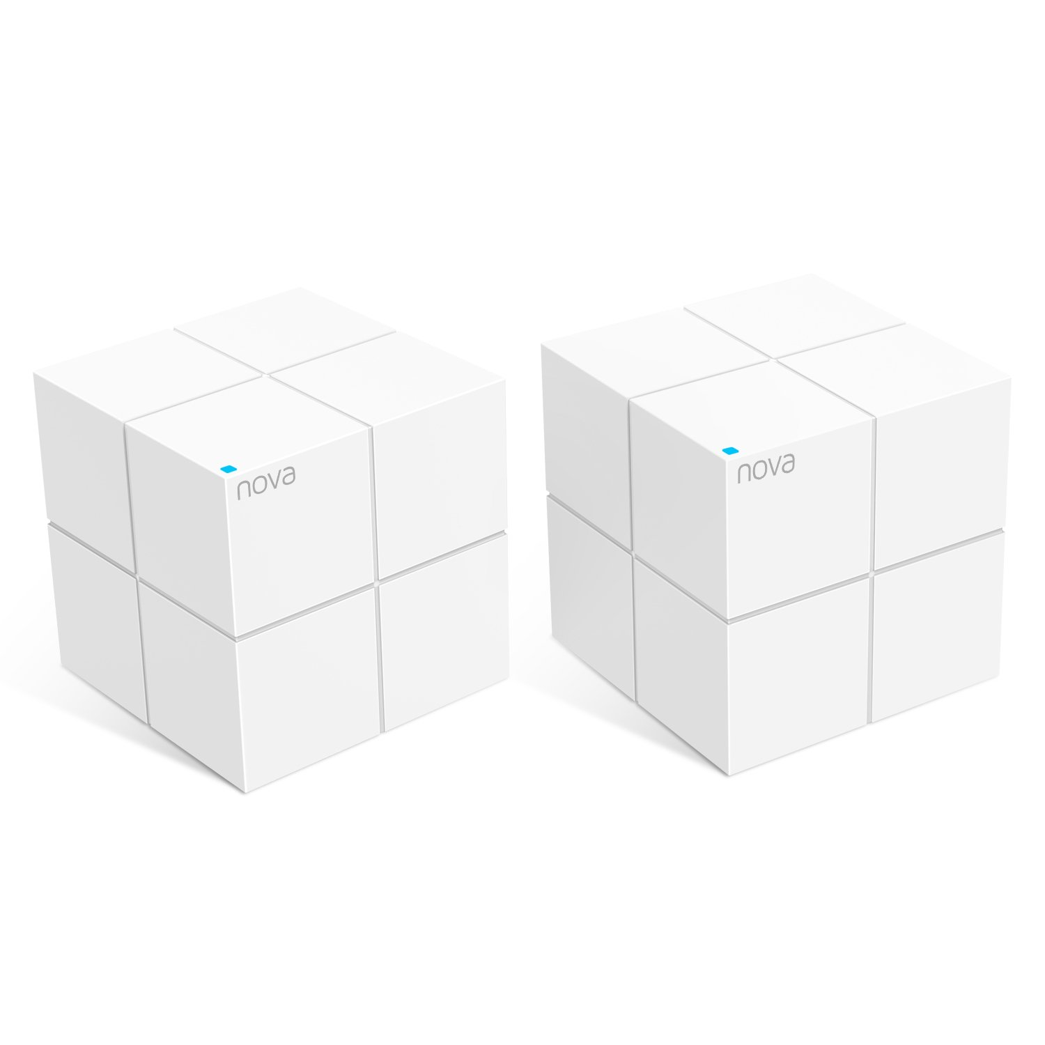 Pack of 2- Tenda Nova MW6-2 Whole Home Mesh Wi-Fi System; Get Rid of Wi-Fi Dead Zones