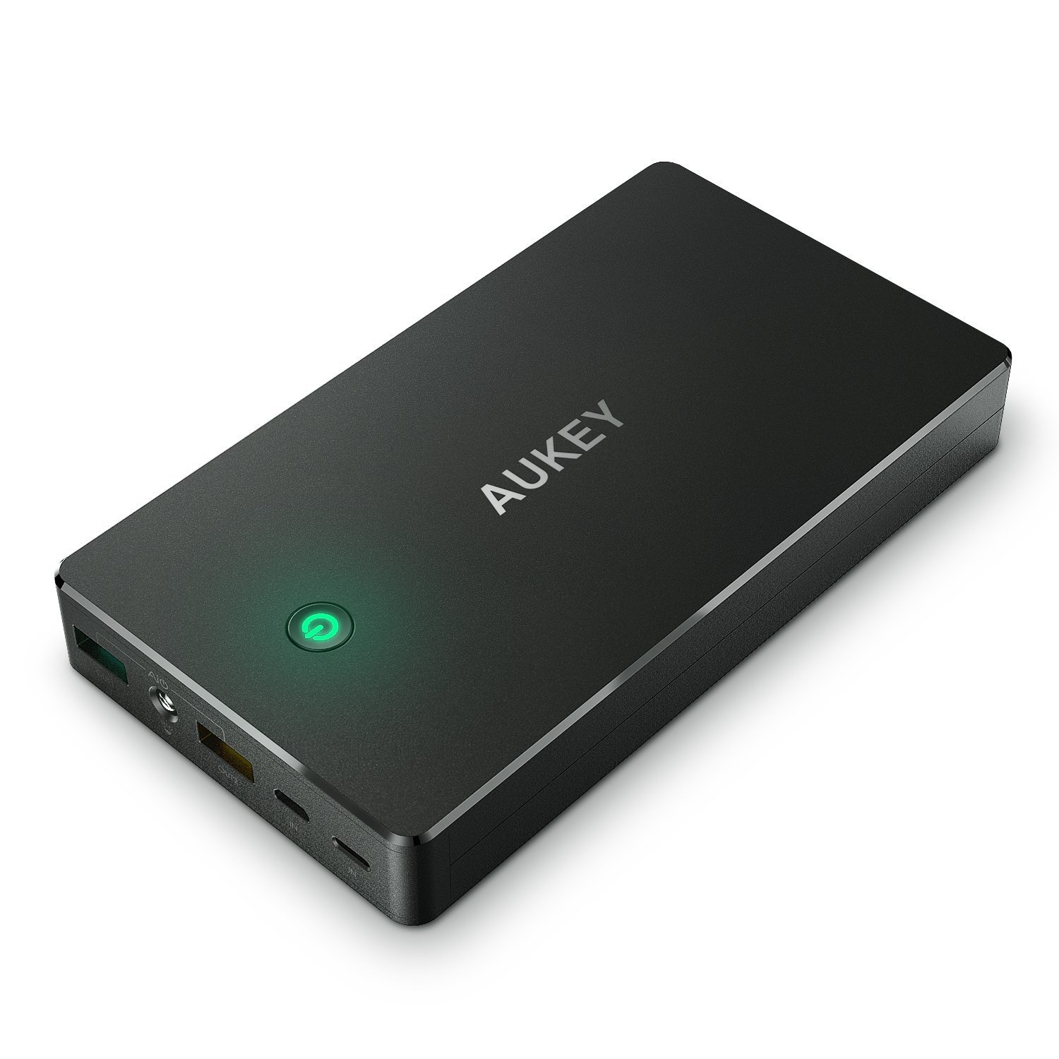 AUKEY 20000 mAh Quick Charge 2.0 Power Bank with 20 cm Micro USB Cable