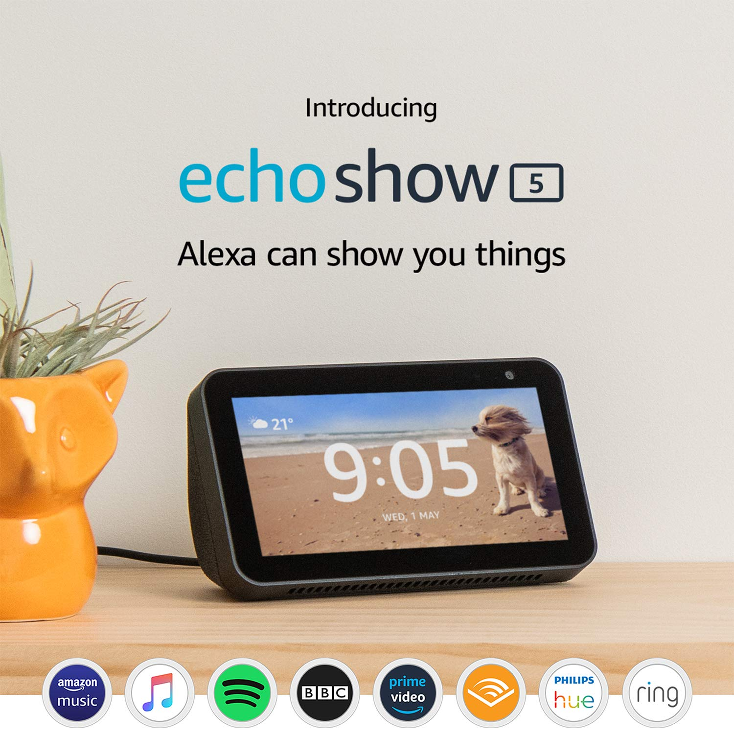 Prime Day – Introducing Echo Show 5 – Compact smart display with Alexa