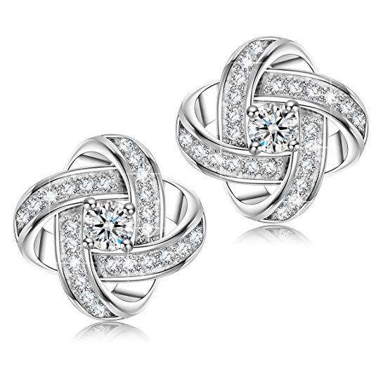 Alex Perry Satellite Series Women Stud Earrings, 925 Sterling Silver, 5A Cubic Zirconia