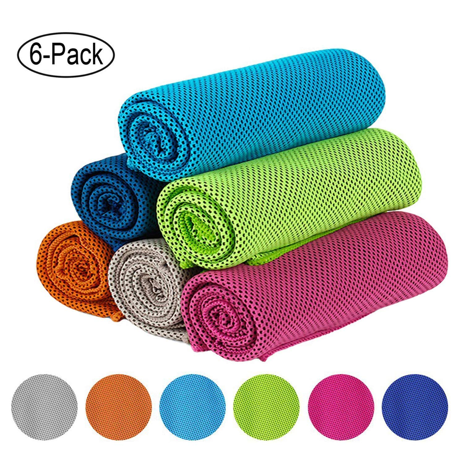 KEAFOLS Cooling Towel 6 Pack