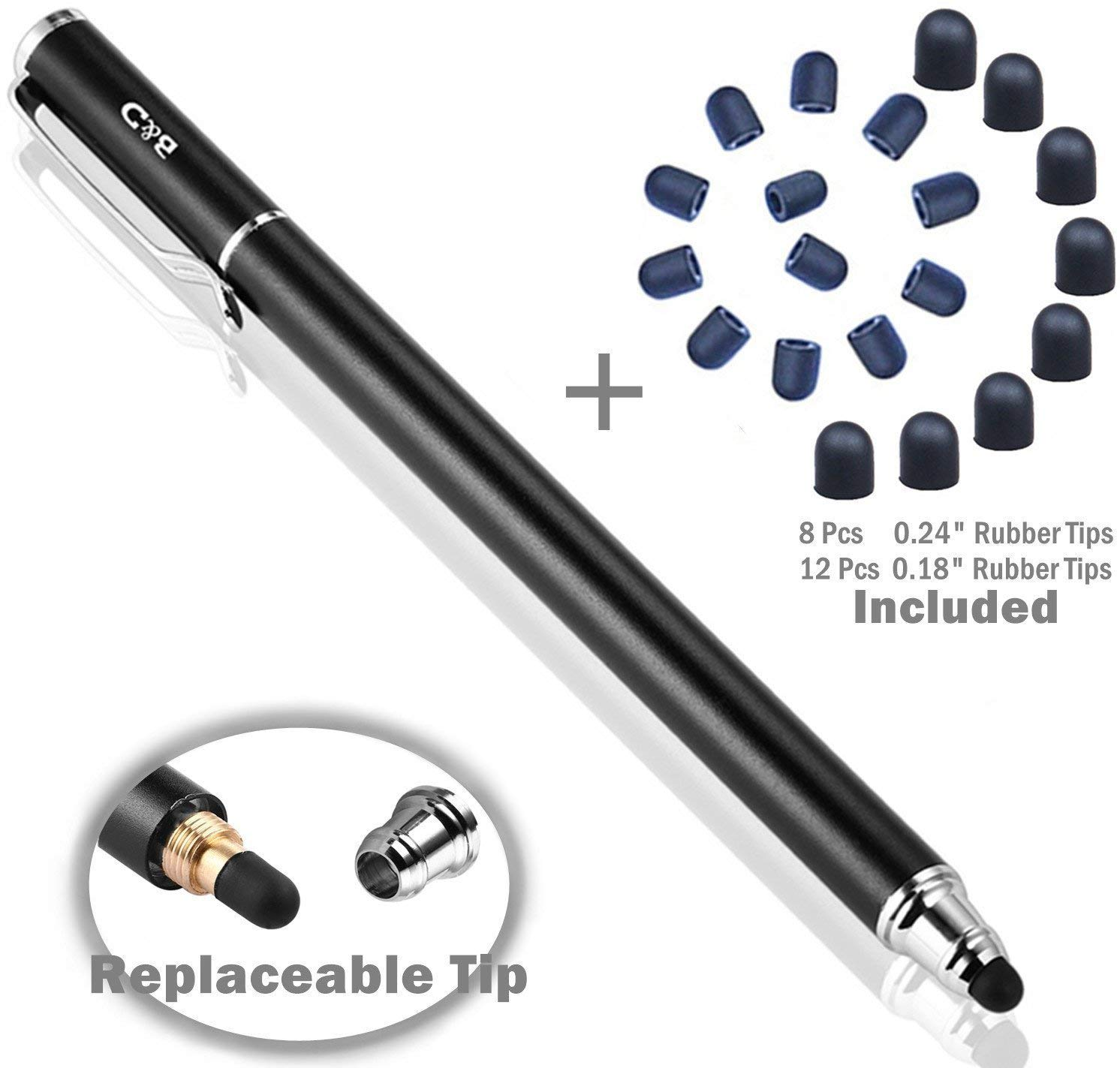 B&D Capacitive Stylus Pen 2-in-1 Styli Touch Screen Pen