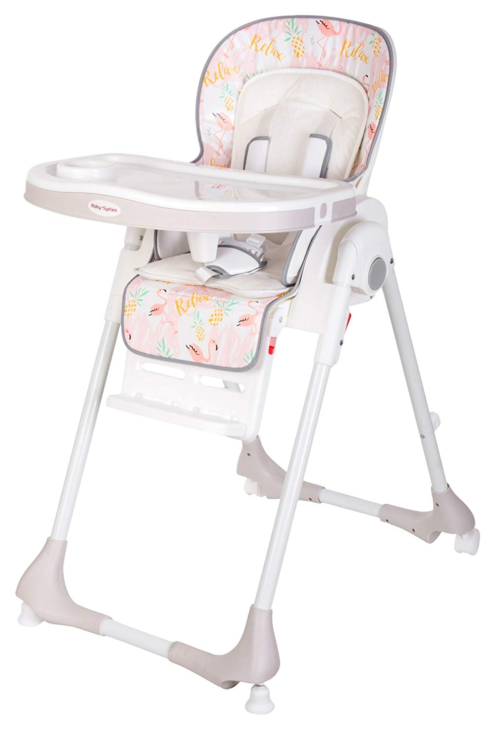 Moby-System Baby Highchair DALIA | 75 x 56 x 108 cm | with Safety Belt