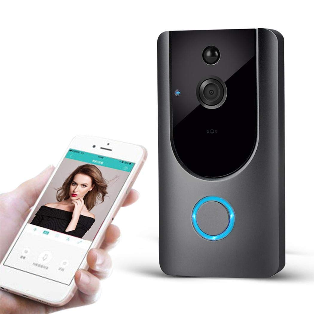 Wireless Visual Smart Doorbell Alarm Wifi Mobile Phone Remote Monitoring Door Bells with 52 Types Music