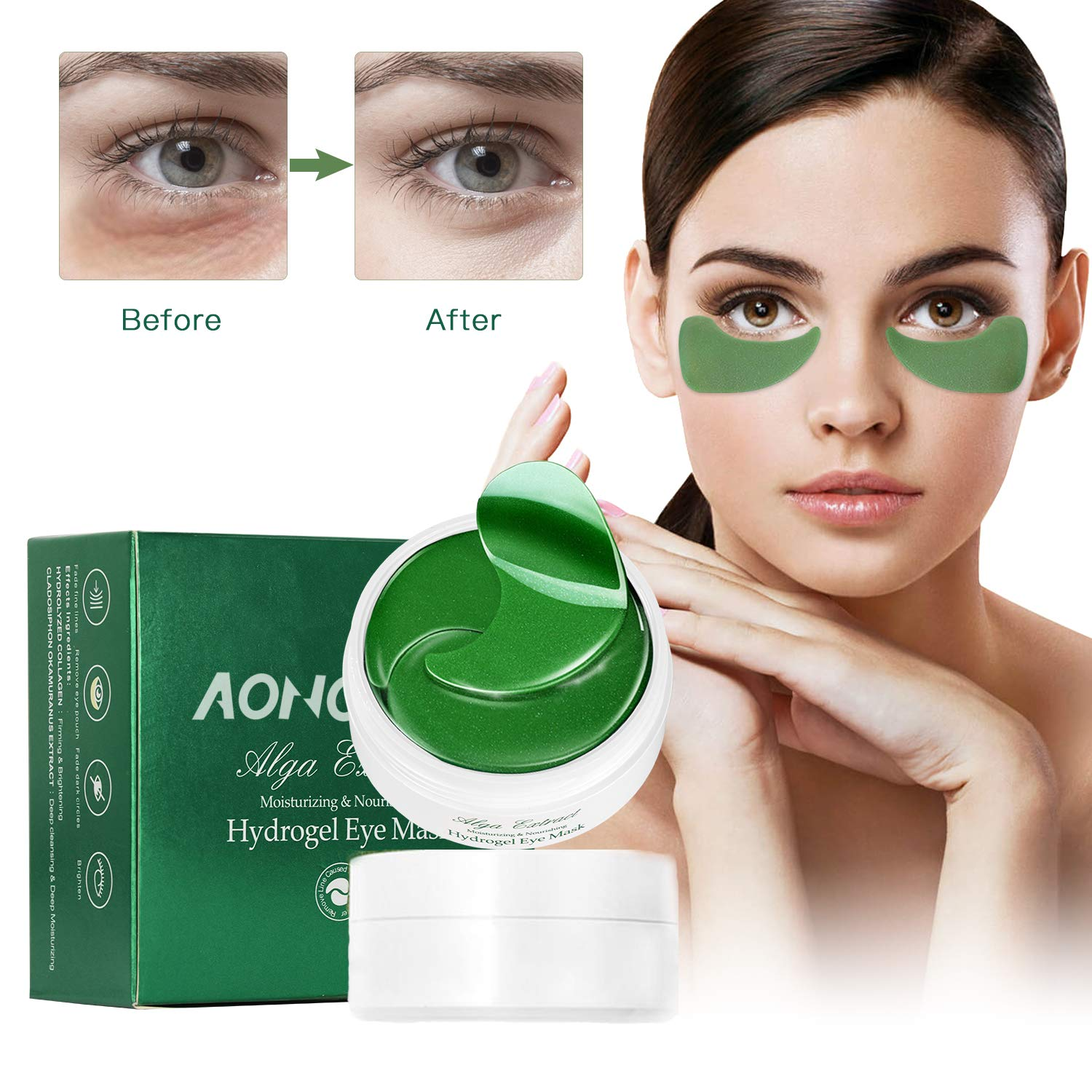 Collagen Under Eye Patches for Puffy Eyes – 30 Pairs