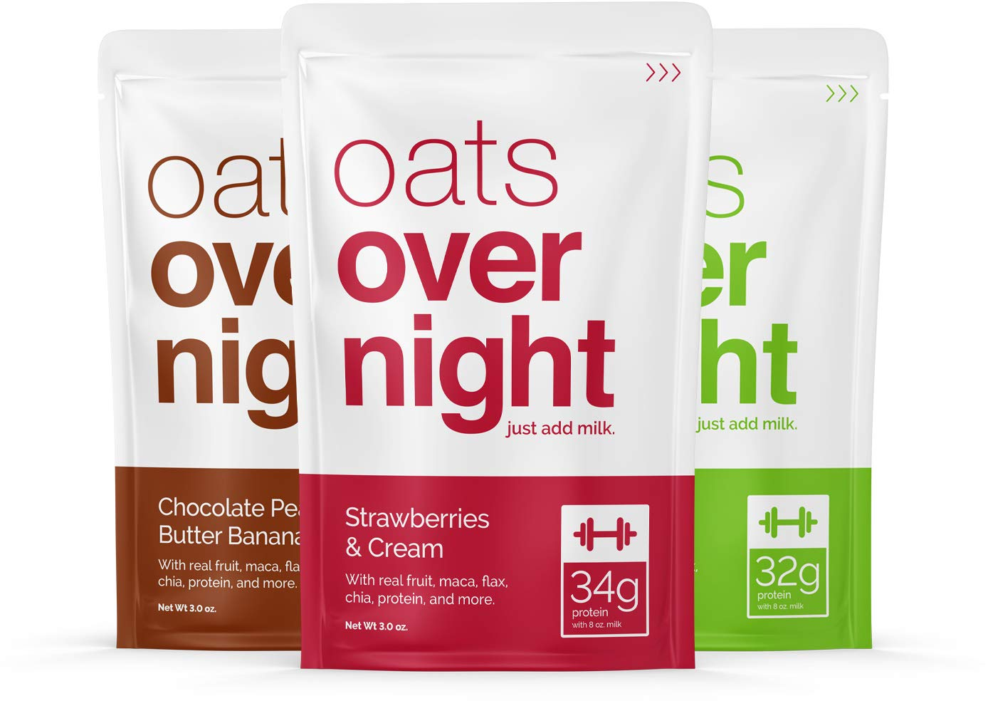 Oats Overnight (3Oz Per Pack) High Protein/Low Sugar 24 Pack Variety
