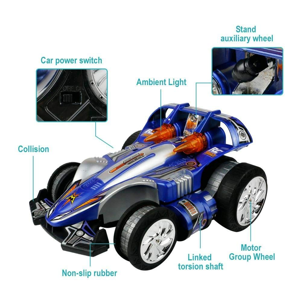 Nuheby RC Cars, Racing Model Car Kit 360° Rotating Rechargeable Outdoor Racing Toys Games