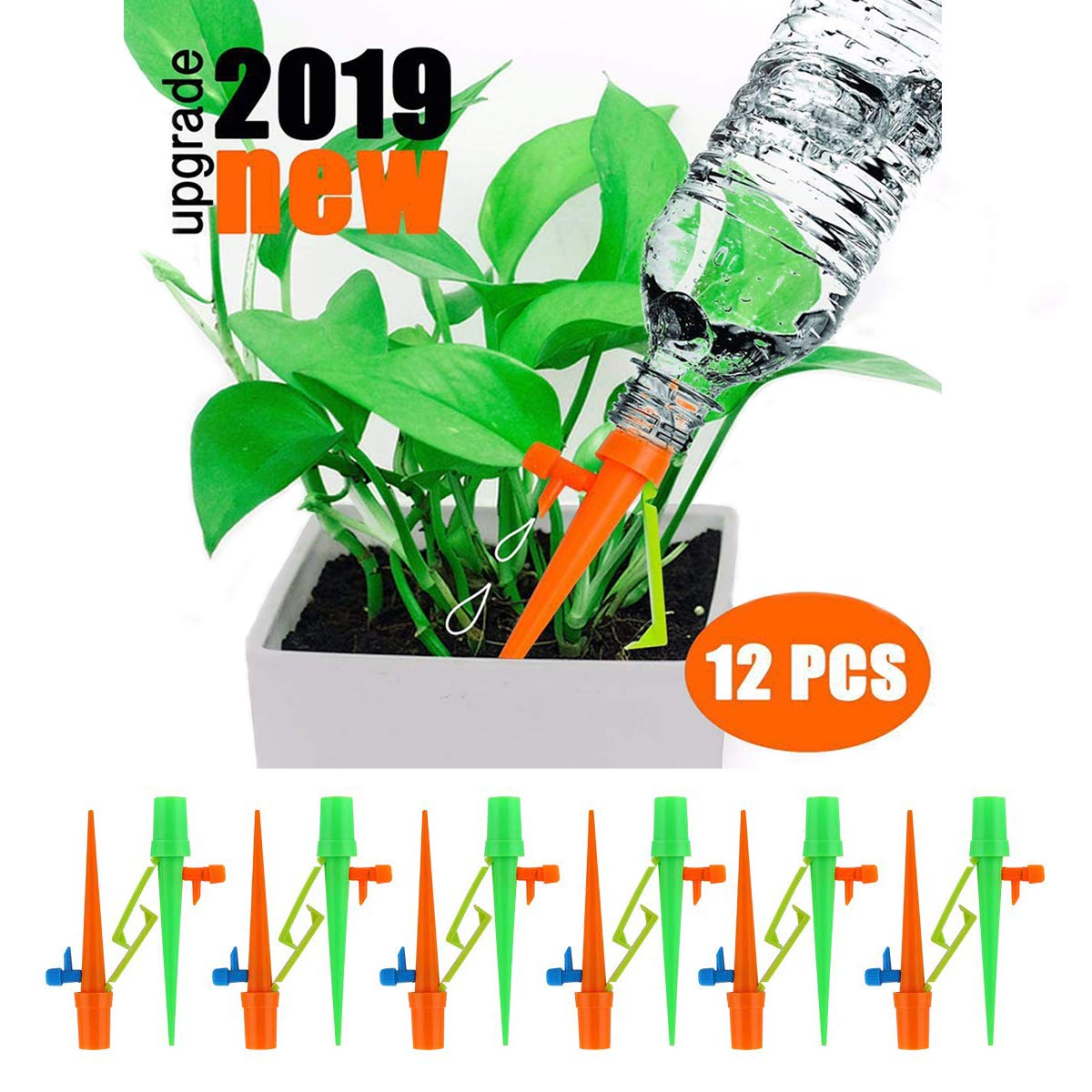 FUMENTON Self Watering Spikes Slow Release Vacation Plants Watering System