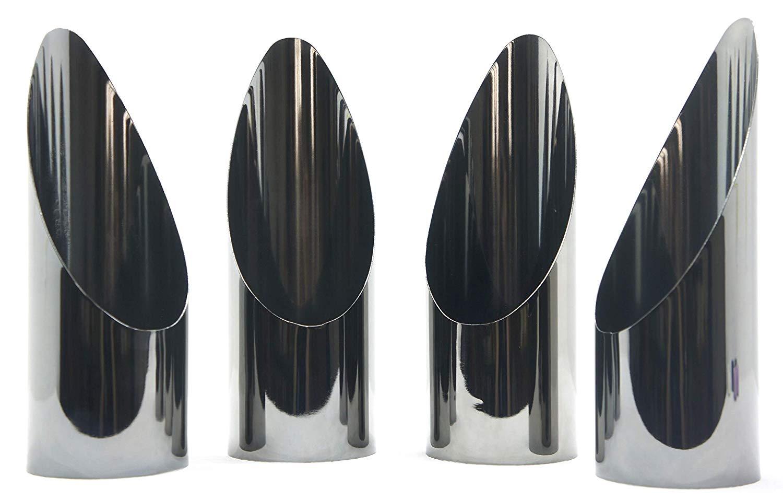 Yankee Candle 4 x Metallic Pewter Pillar Holders