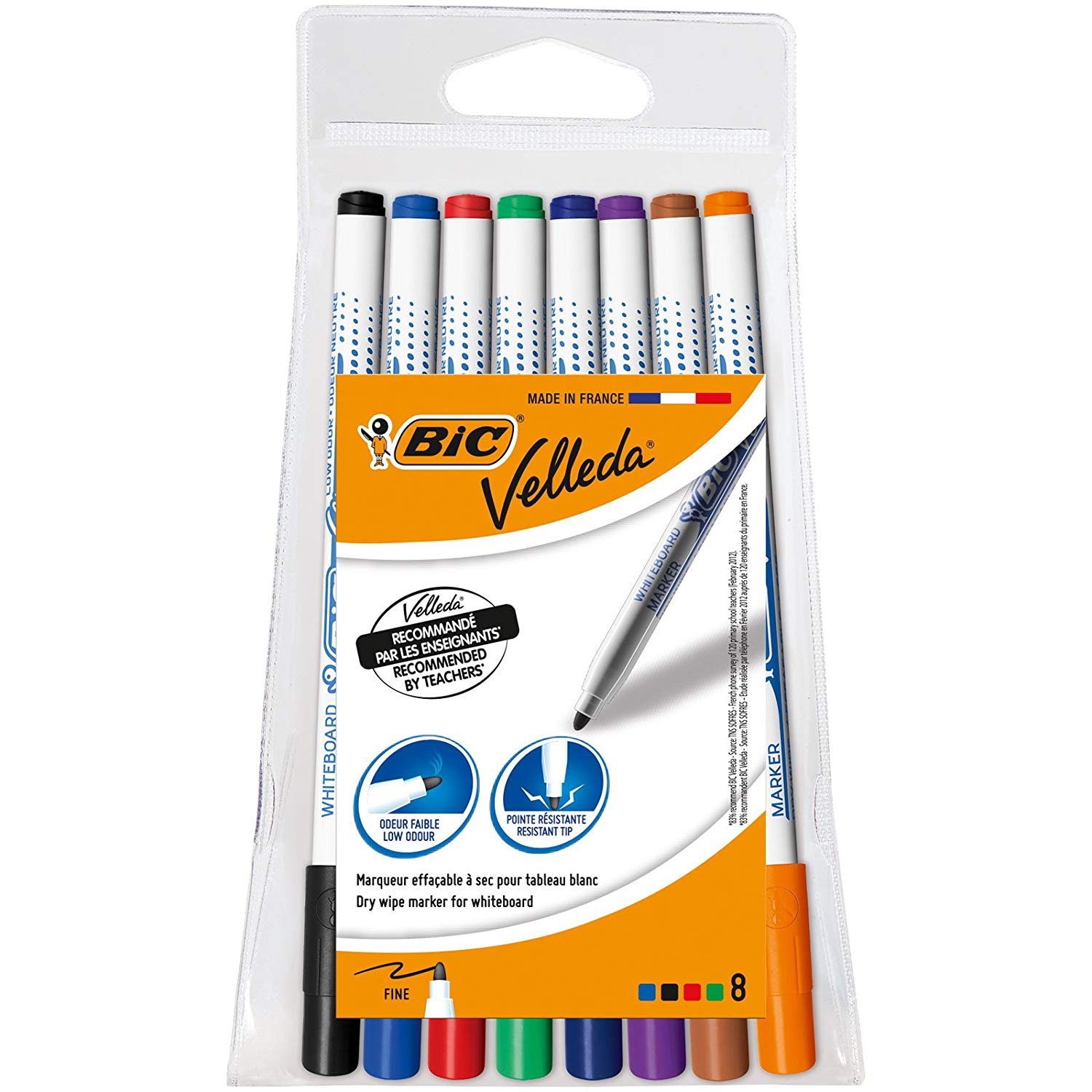 Pouch of 8 – BIC Velleda 1721 Whiteboard Pens