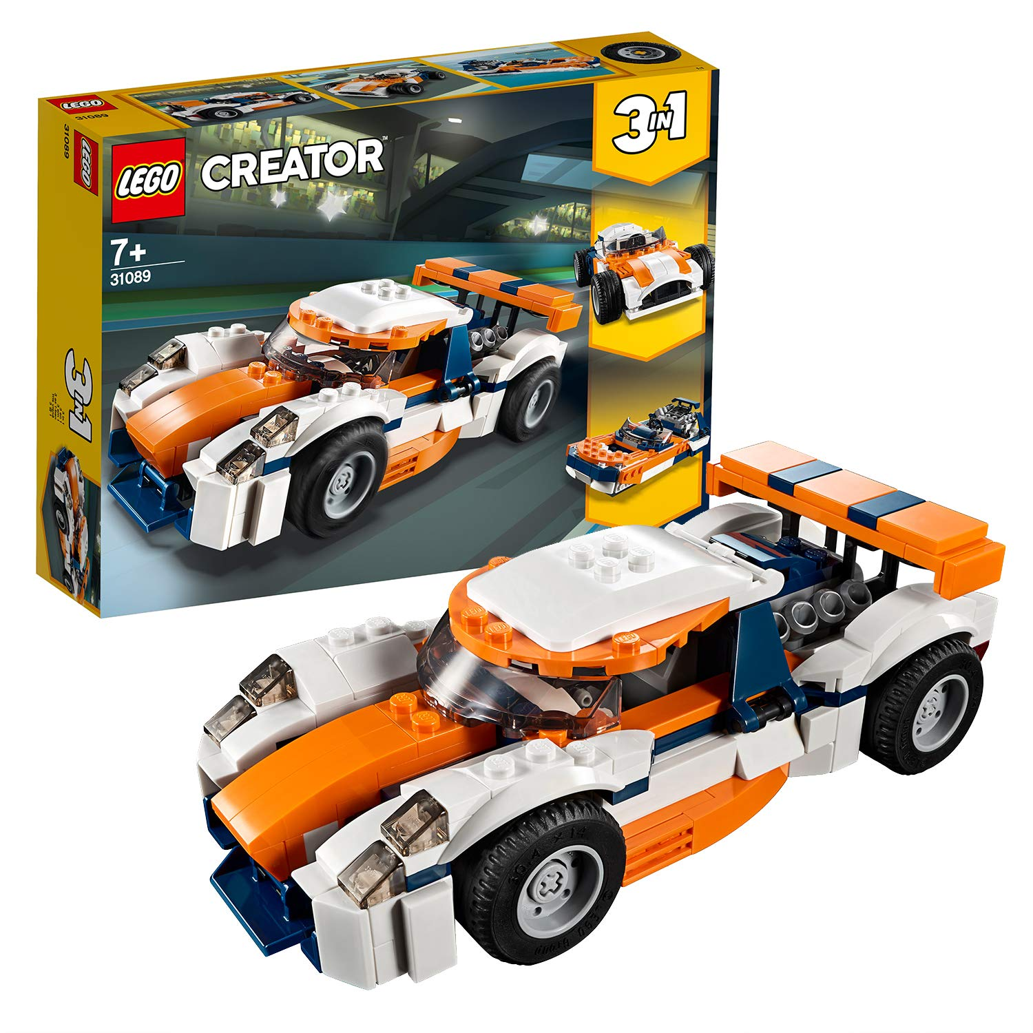 LEGO 31089 Creator 3-in-1 Sunset Track Racer Building Kit