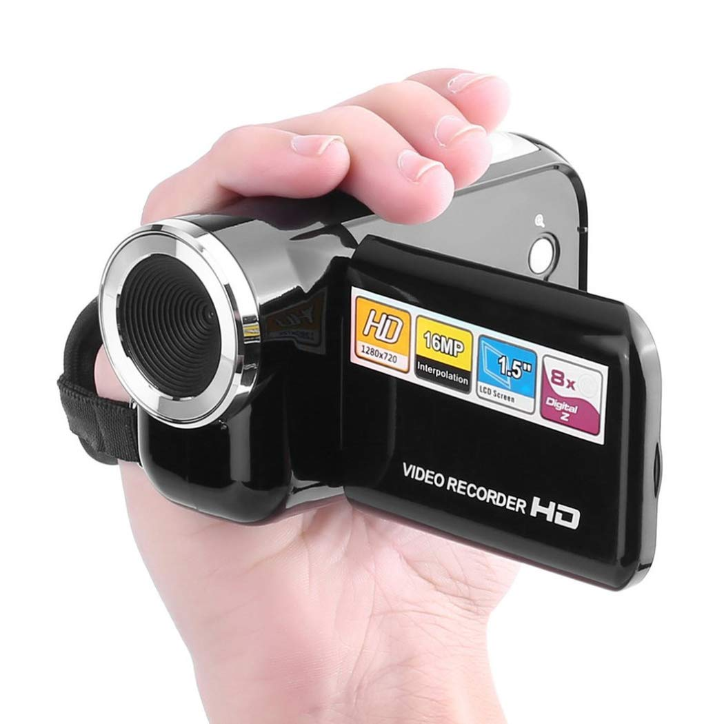 Mini Digital Video Camera Rotatable Camcorder LCD Screen Video Camerawith TF Card Slot