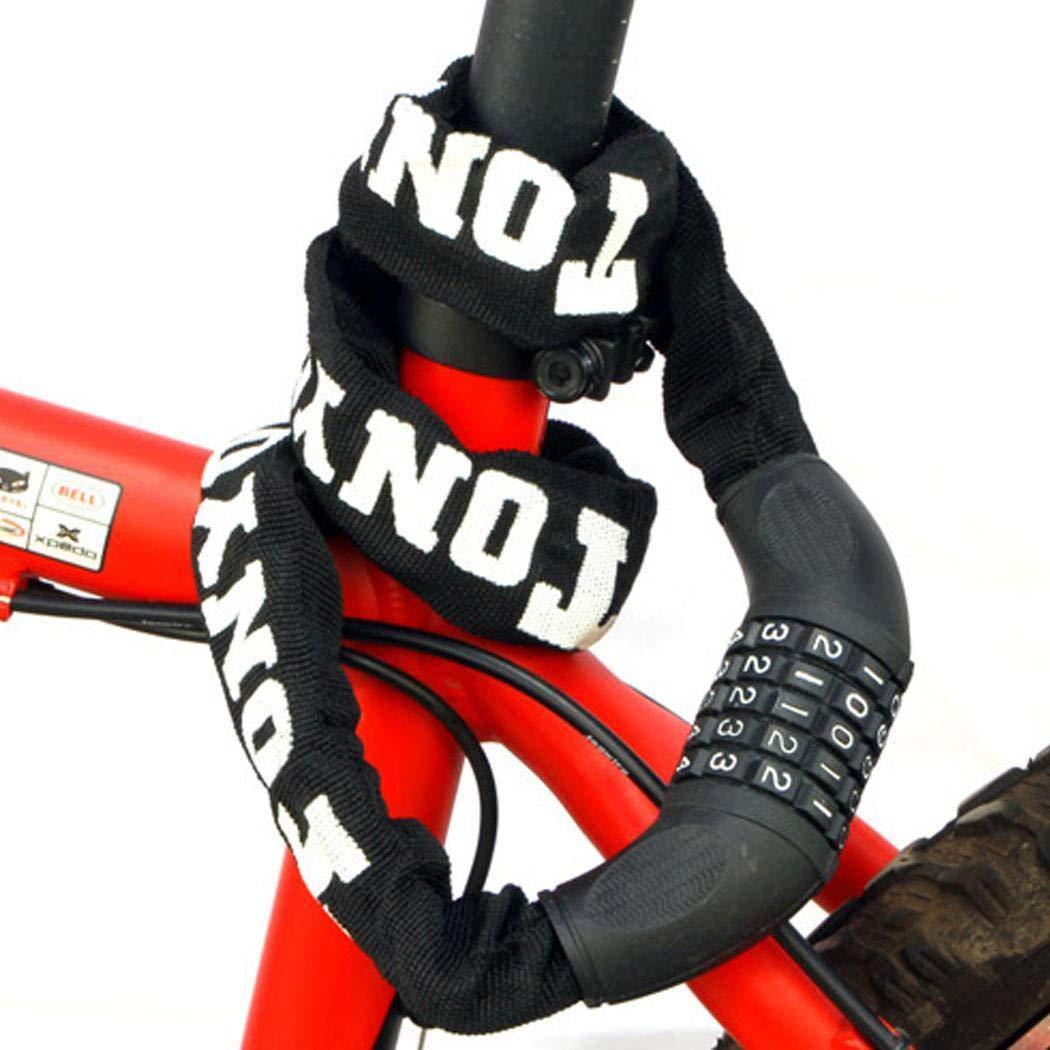 herencn Bike Lock No Keys Required Open with Password Chain Locks