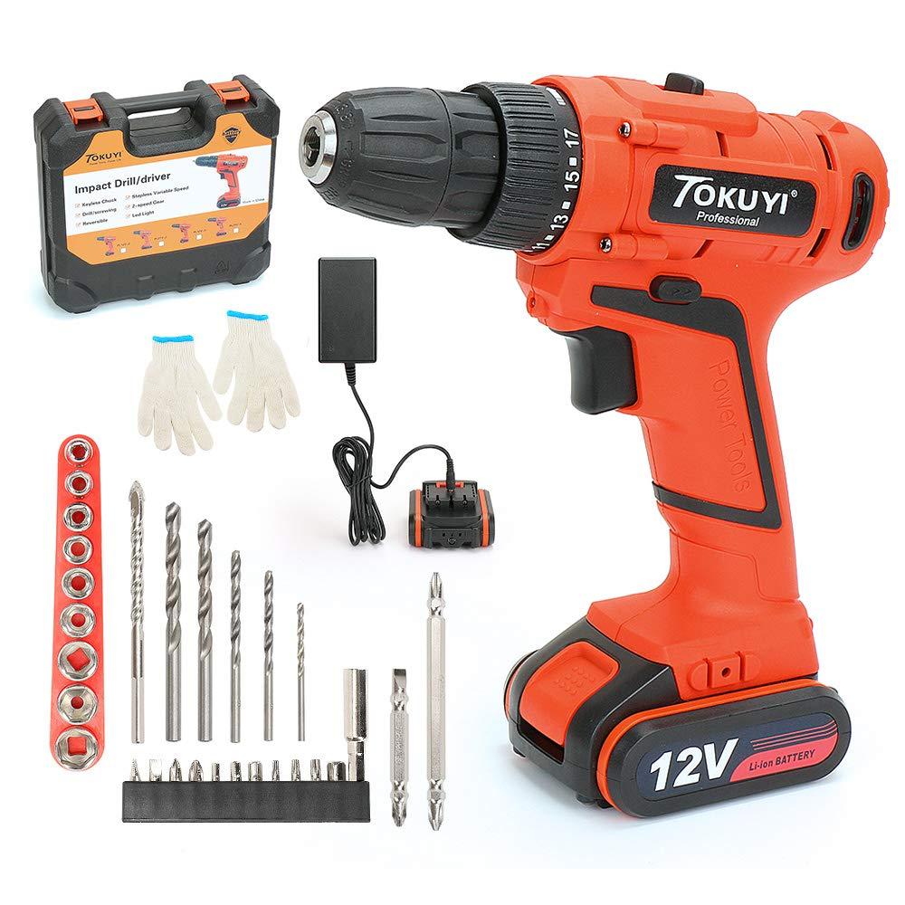 Tokuyi 12V Cordless Drill Driver Kit