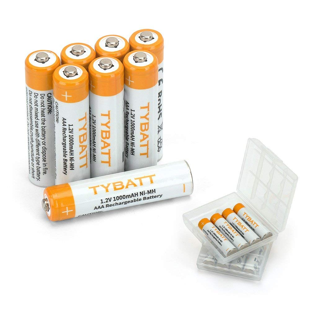 AAA 1000mAh Rechargeable Batteries