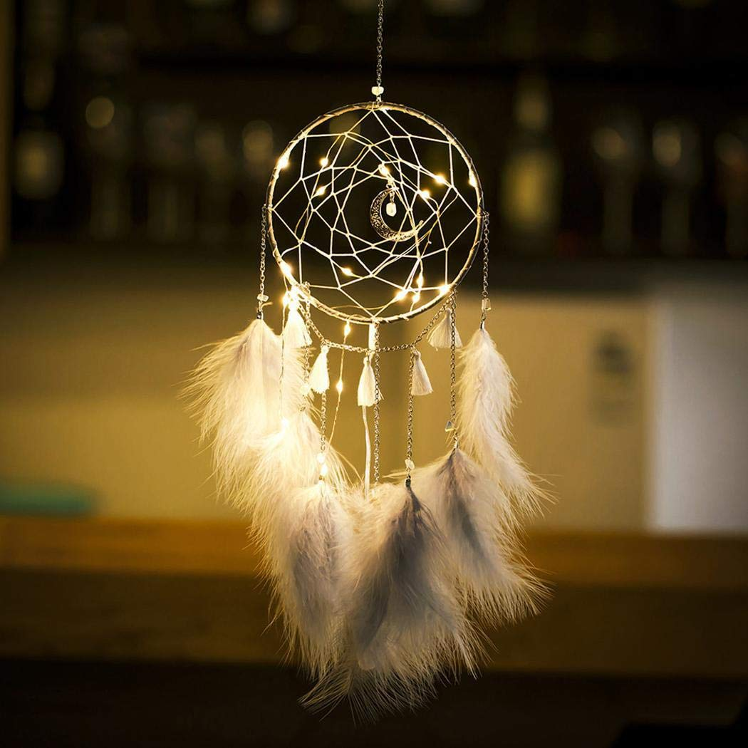 Sioneit LED Lights Dream Catcher Wall Hanging Decoration Room