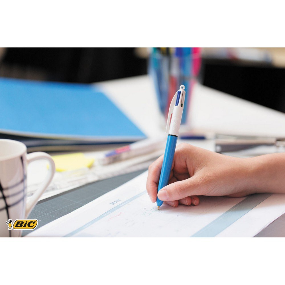 BIC 4 Colours Original Ballpoint Pens Medium Point (1.0 mm) – Pack of 2+1