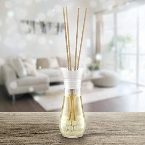 Air Wick Reed Diffuser, Pure Soft Cotton Scent – 5 Bottles x 25ml