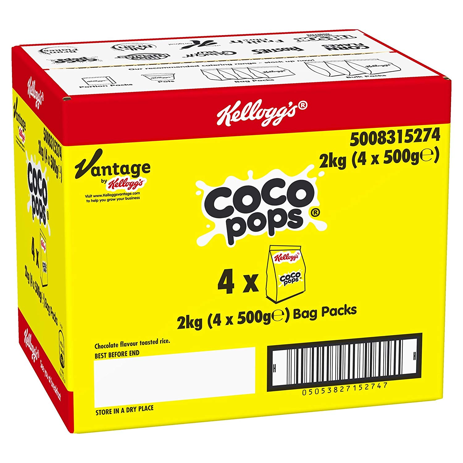 Coco Pops Kellogg's Bag Pack, 2 kg