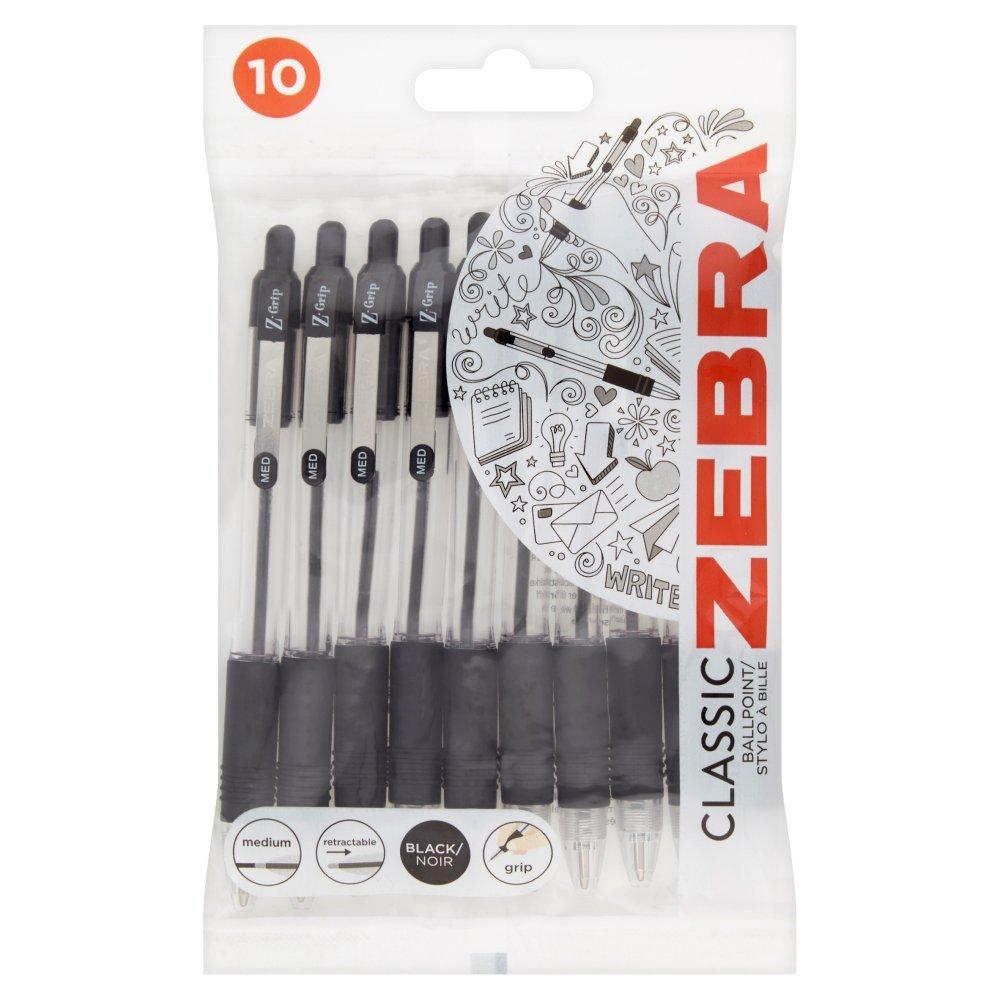 Zebra Z-Grip Ballpoint Pen, Pack of 10