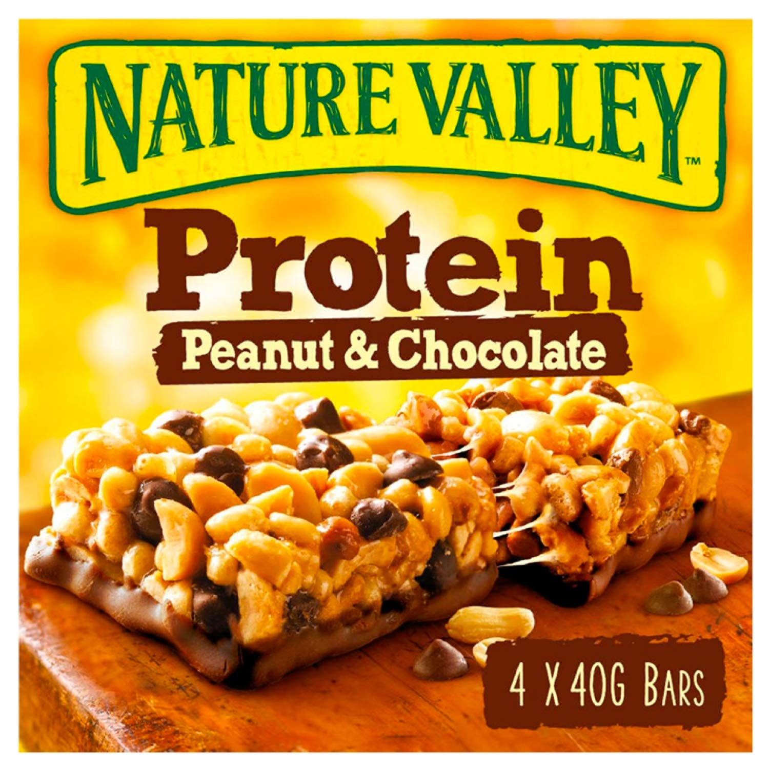 Nature Valley Protein Peanut & Chocolate Gluten Free Cereal Bars (Pack of 4 bars)