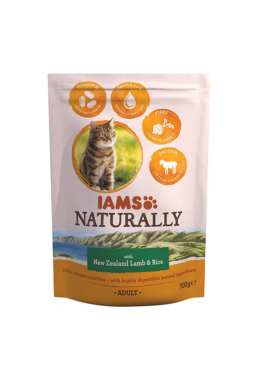 New Zealand Lamb and Rice Adult Cat Food, 700 g – Pack of 5