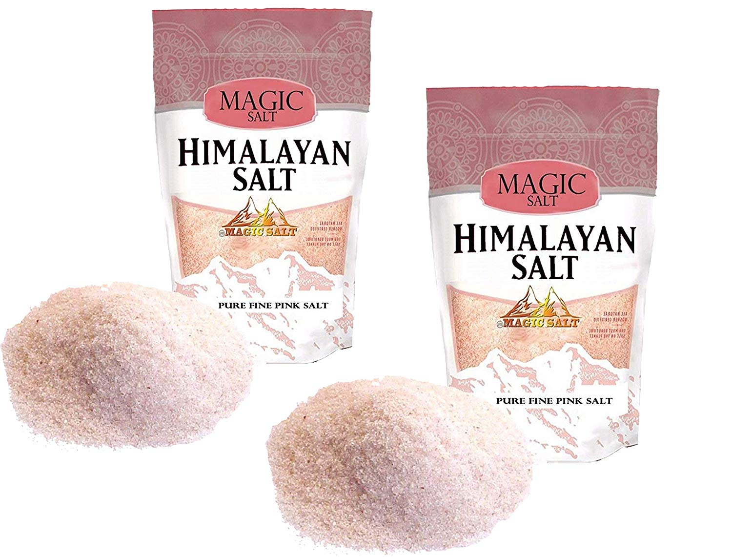 Himalayan Fine Pink Salt Pure and Naturally Organic Food Grade Fine Salt