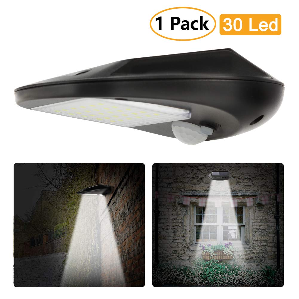 Litake Solar Lights Outdoor Motion Sensor Wall Lamp