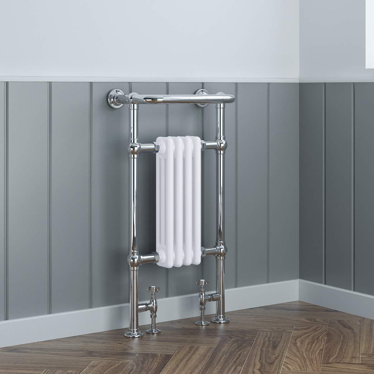 Traditional Bathroom Heated Towel Radiator 940 x 479 Chrome