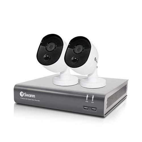 4 Channel Security System: DVR-4580 with 1TB HDD + 2 x 1080p Thermal Sensing Camera