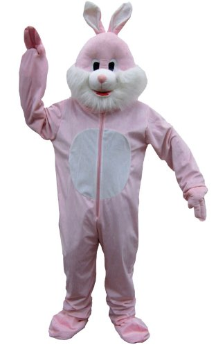 Dress Up America Pink Rabbit Mascot Adult Costume