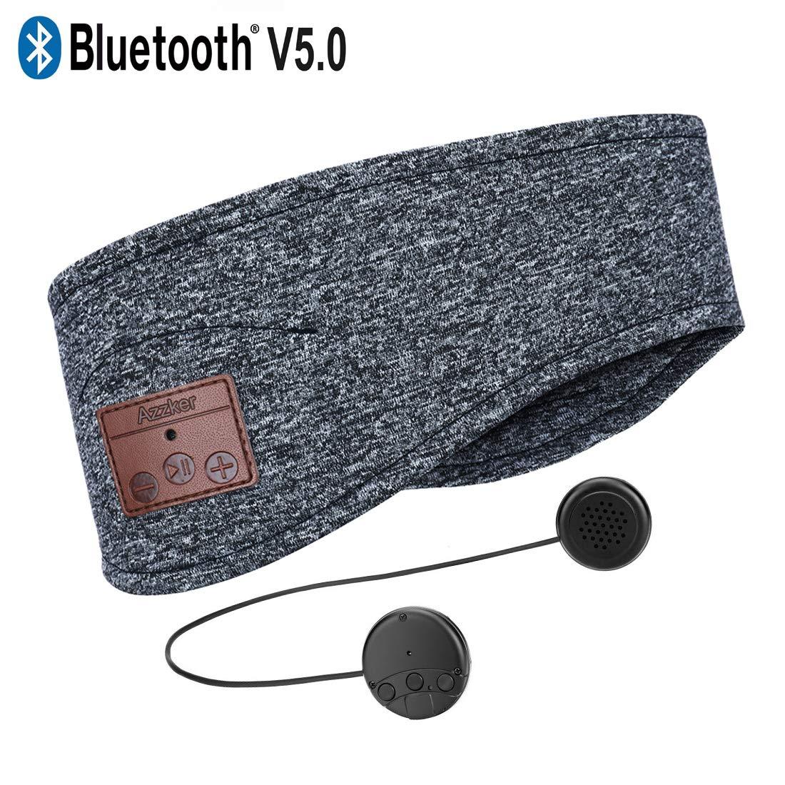 Bluetooth Headband, Azzker Bluetooth Sleep Headphones Travel Headphones