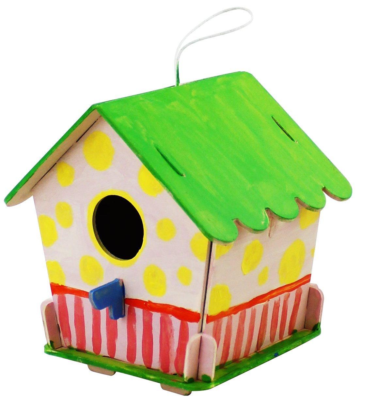 70% off 3D Build Wooden Bird House DIY Kit (Birdhouse4)