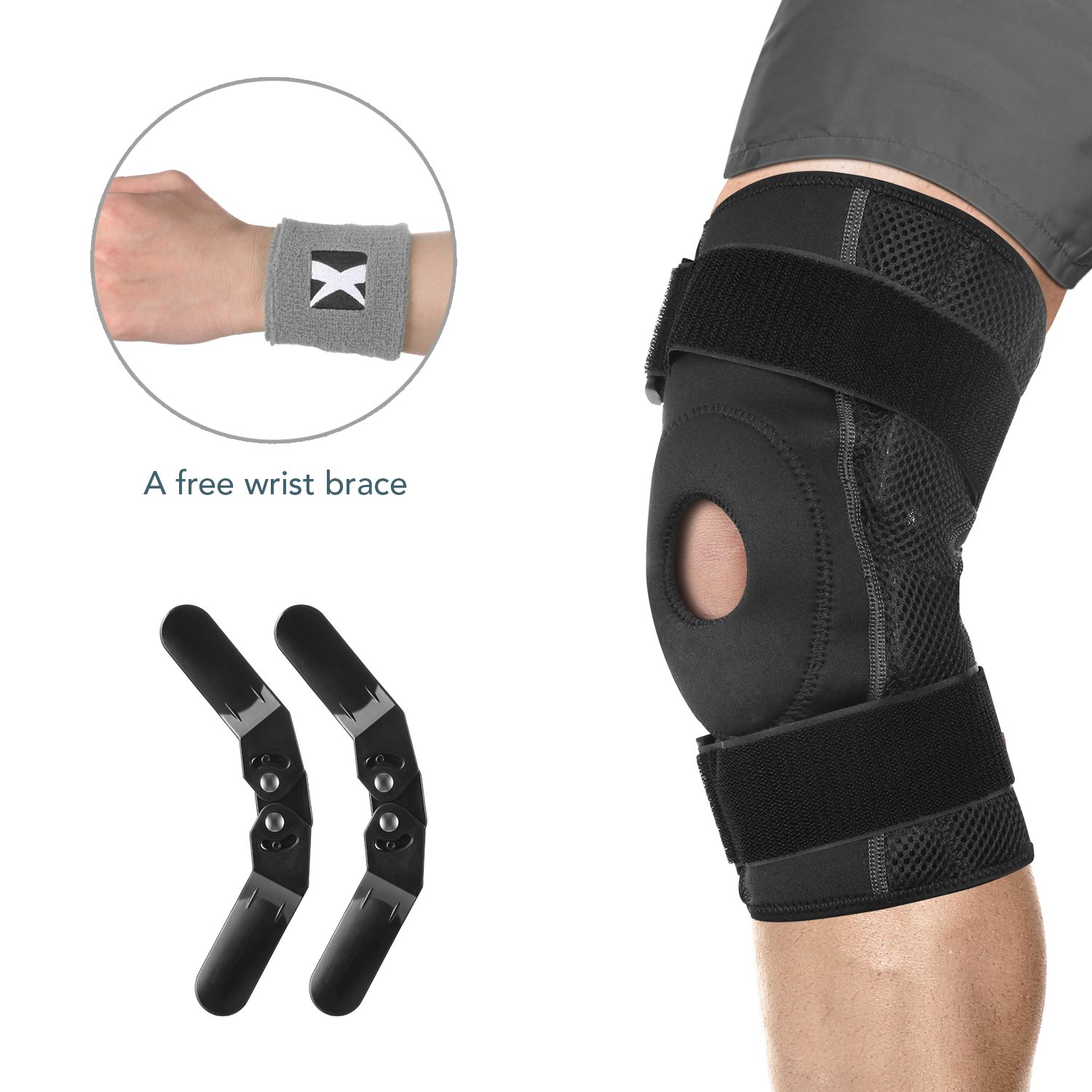MARNUR Knee Brace Medical Grade Knee Support Stabilizer