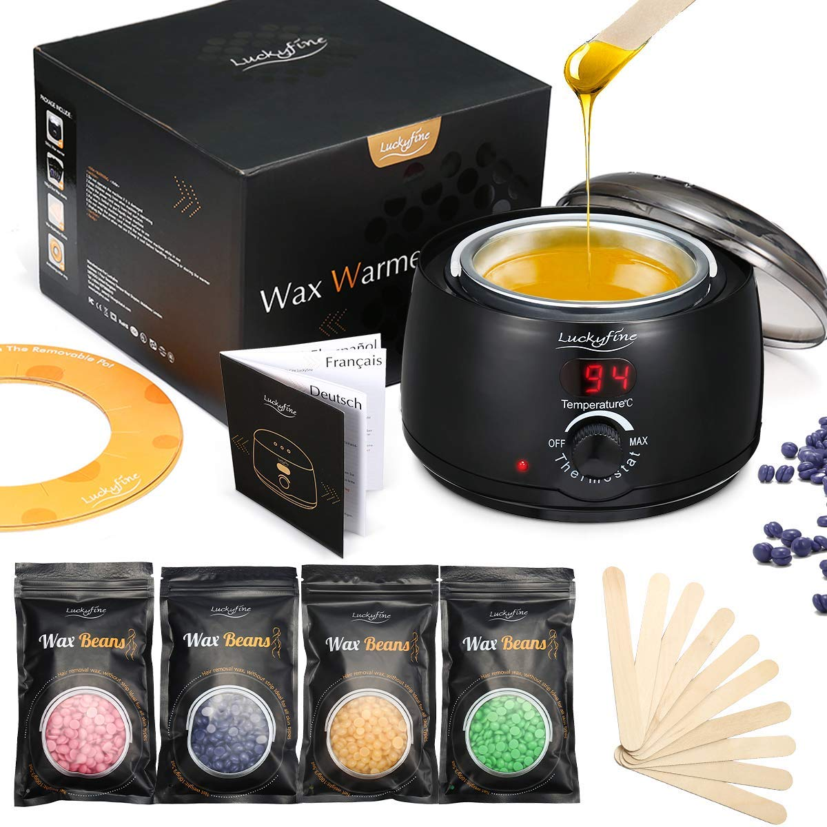 Luckyfine Professional Electric Wax Heater Wax Warmer Wax Depth