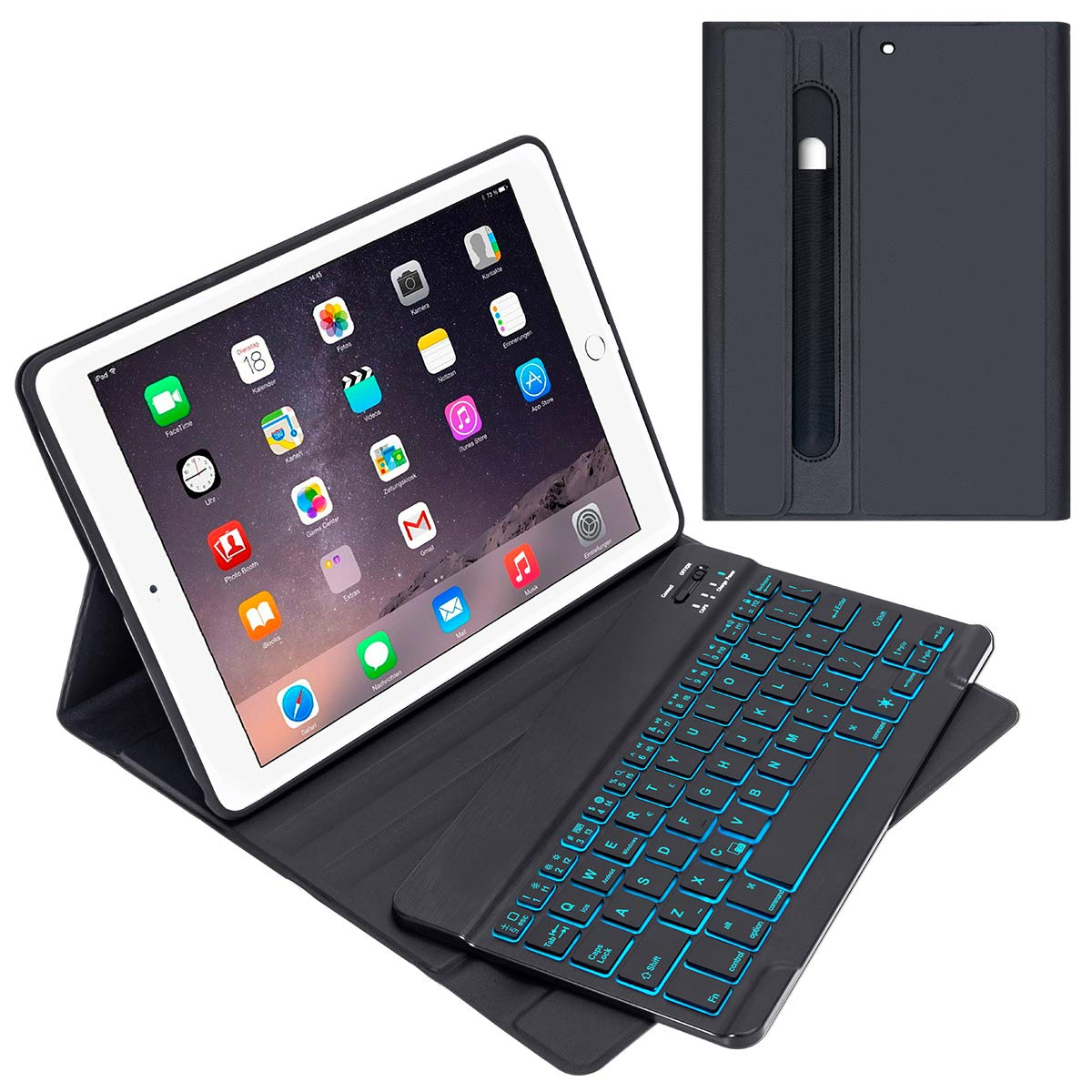 iPad Keyboard Case for iPad 9.7″ 2018 (Gen 6)/2017 (Gen 5), iPad Air 2 & Air 1