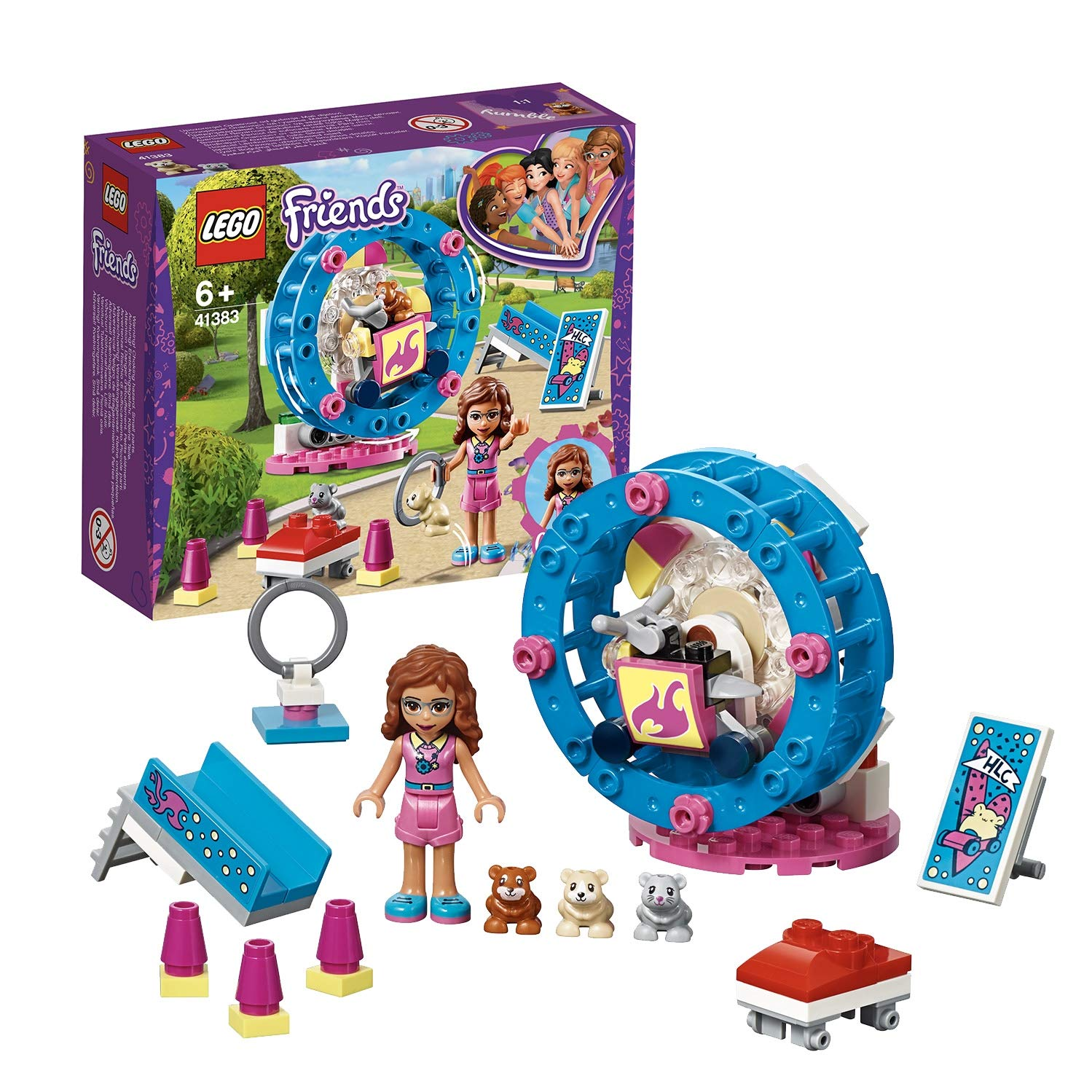 LEGO Friends Olivia's Hamster Playground Building Set