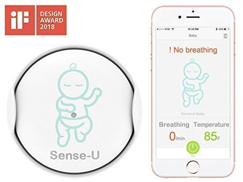 Sense-U Baby Monitor Breathing Rollover Movement Temperature Portable Alarm