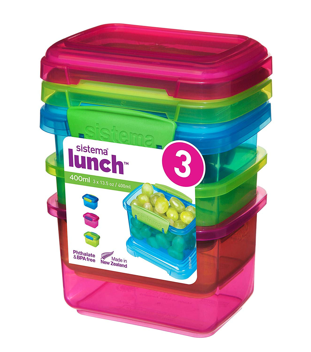 Lunch Food Storage Container, 400 ml, Pack of 3