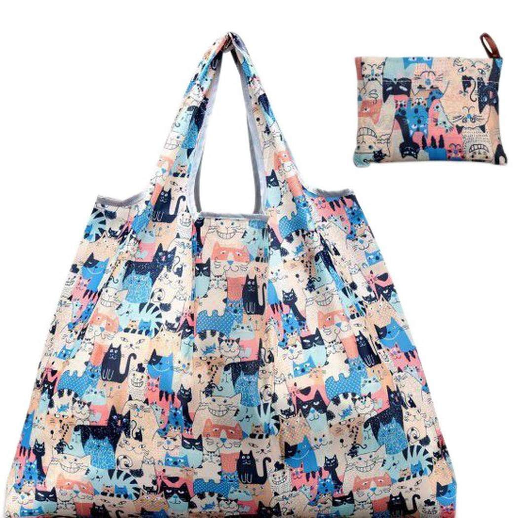 Portable Foldable Cartoon Shopper Bags